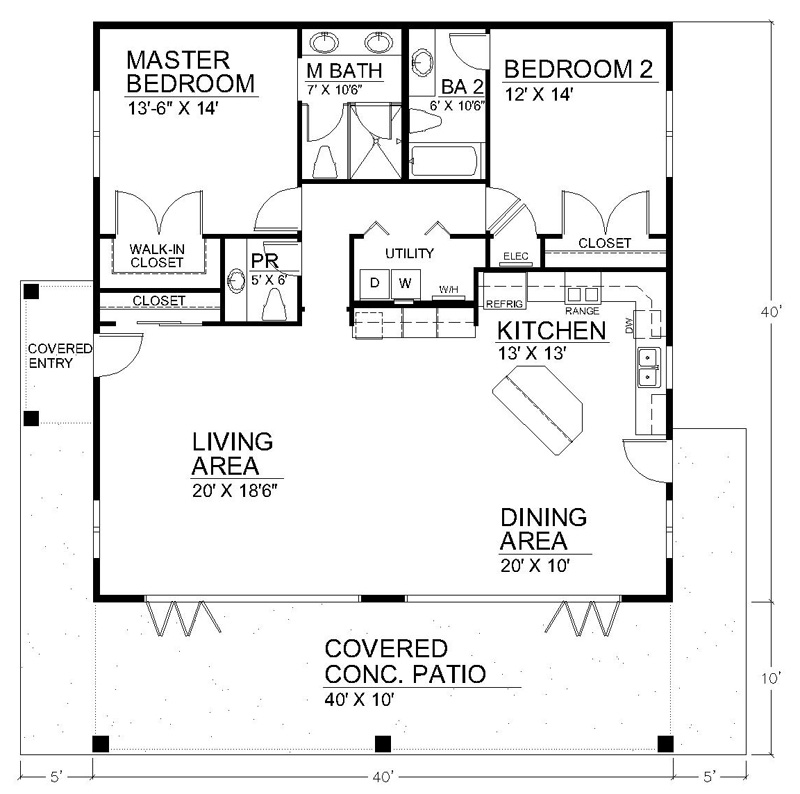 Clearview 1600 S House Plans